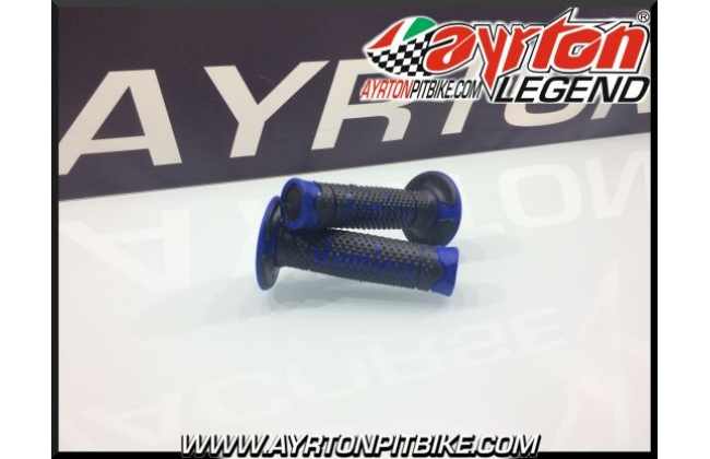 Domino Blue Pitbike Grips