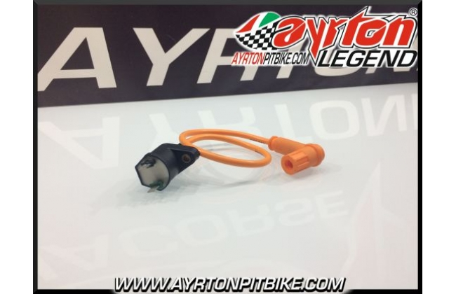 Coil With Cable And Pipette In Silicon Shielded Pit Bike High Performance Orange