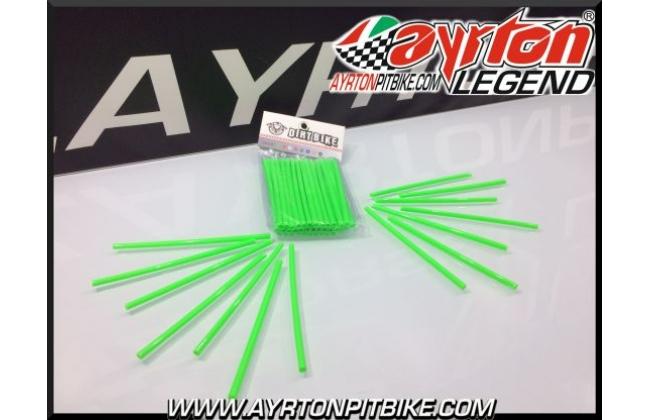 Green Neon Pitbike Spokes Cover