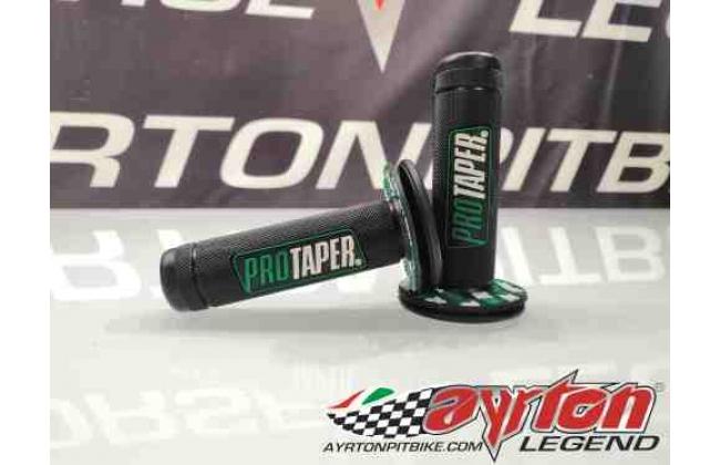 Dark Green Full Diamond Synergy Pitbike Protaper Grips
