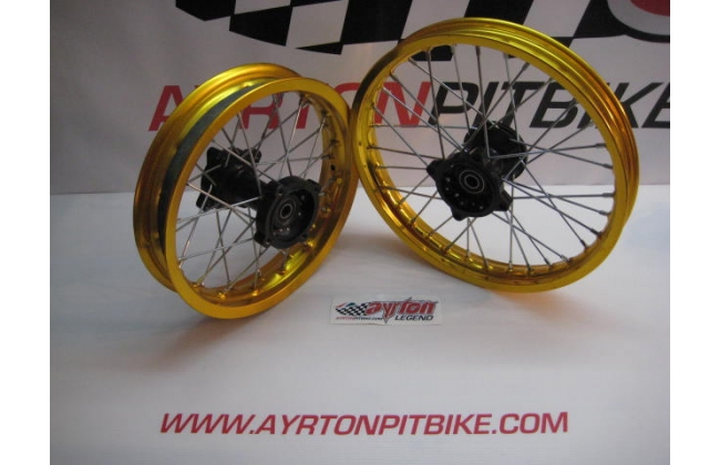 Cross 14 + 12 Pitbike Rim Kit