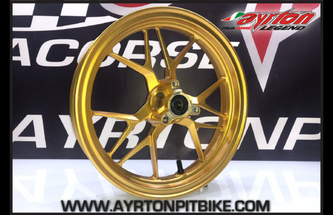 Front Wheel Pit Bike Ultralight Ayrton 3 Holes Top Quality