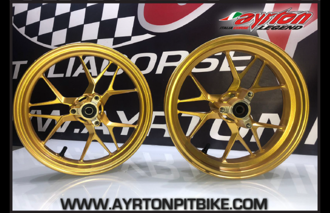 Pair Of Ultralight High Quality Gold Pitbike Rims