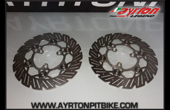 Double Floating Brake Disc 220 Mm Pitbike Right And Left Connection Made In Italy