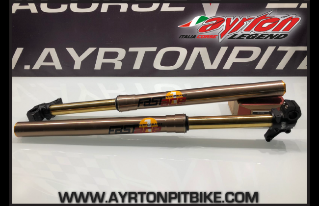 Fastace Factory Pitbike Forks With Tin Coating For Single Or Double Caliper Systems