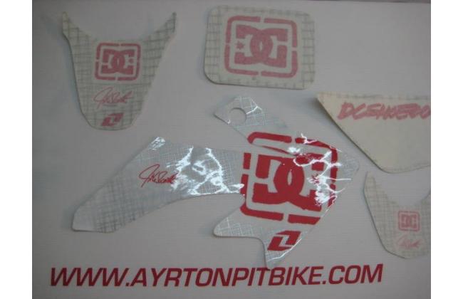 Dc White Pit Bike Graphics