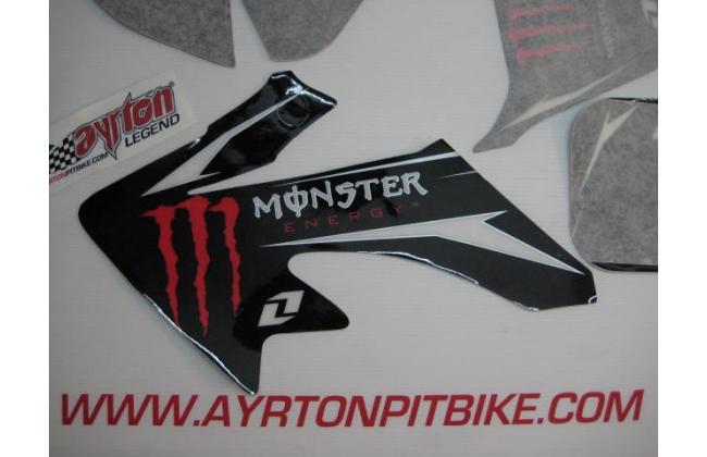 Black Monster Pit Bike Graphics