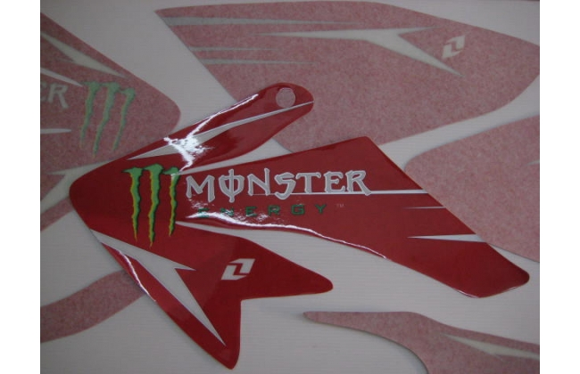 Red Monster Pitbike Graphics