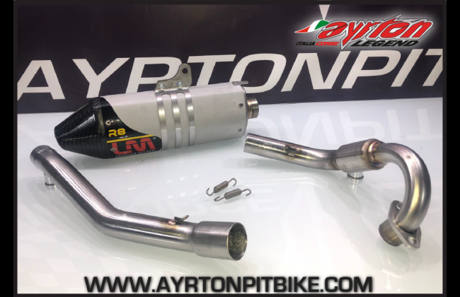 Full Exhaust Pitbike Lm R8 For Lx9 Viper