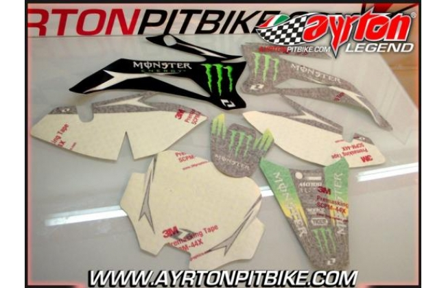 Graphic Kit Pit Bike Monster Energy Ttr