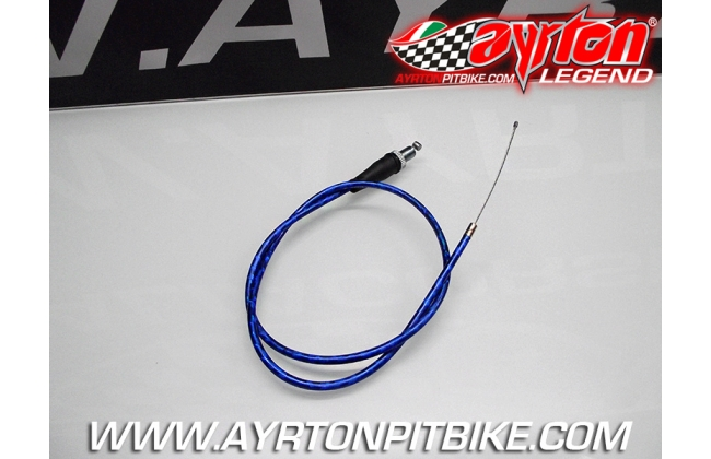 Blue Pit Bike Gas Wire Cable