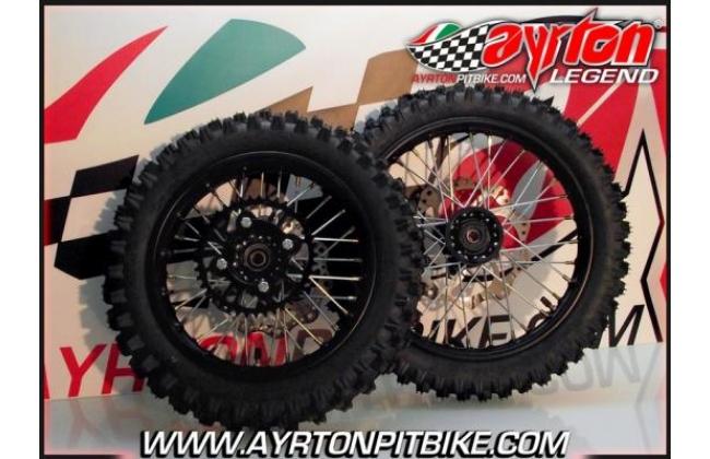Pair Of Black Cross Pit Bike Wheels 1412