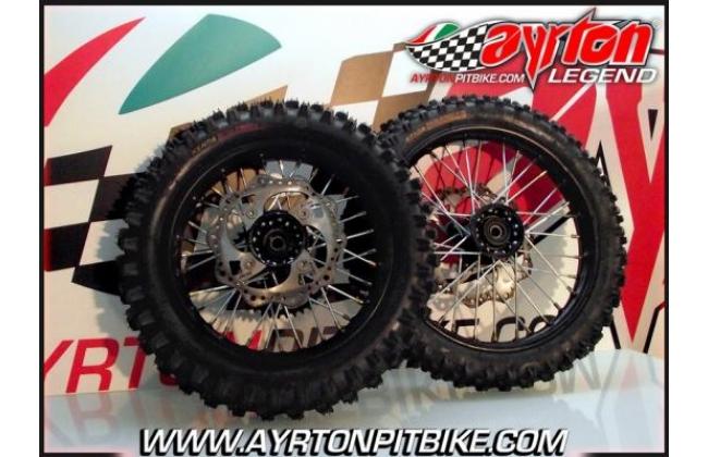 Cross Pit Bike Wheels 12/14 Ultra Resistant Alloy And Slim Hub