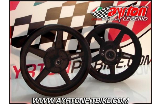 Pair Of Alloy Wheels Dhz Pro 5 Spokes 2.50 / 2.15 + 3.00 Pit Bike