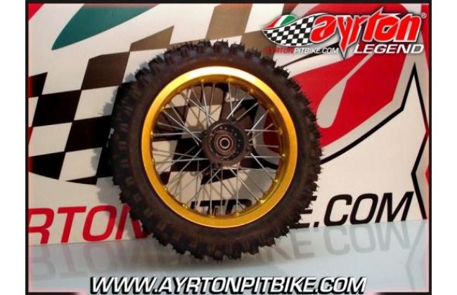Rear Rim Alu Gold 12 Pit Bike