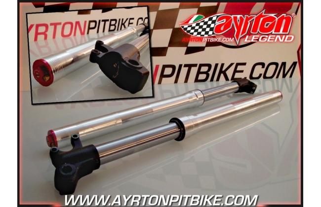 Adjustable Pit Bike Forks K2-730 D33 Silver