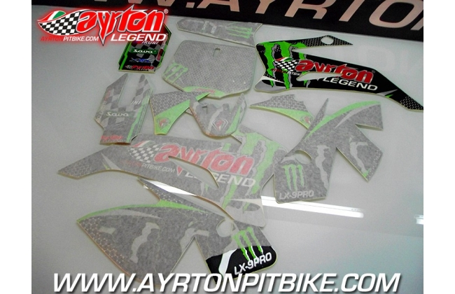 Pit Bike Graphics Kit Ayrton Legend Lx9-pro Ttr Style