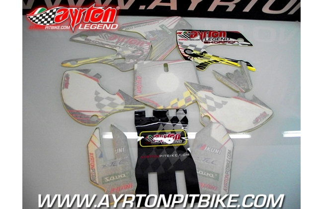 Pit Bike Graphics Kit Ayrton Legend Skorpion Bbr Style