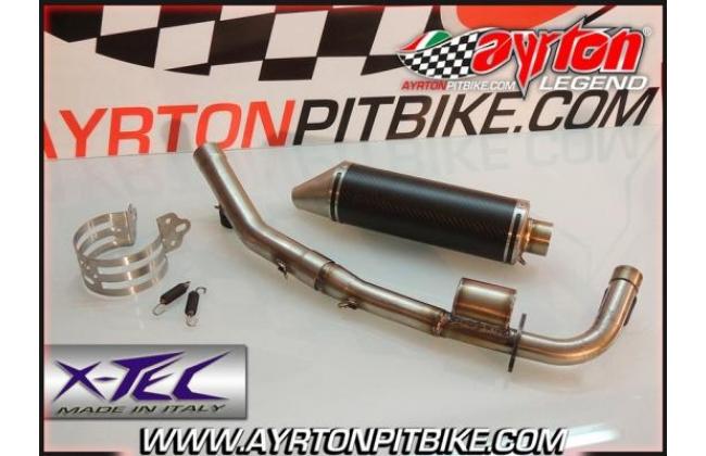 Full Exhaust Xtec Gp Carbon Low Passage Pit Bike