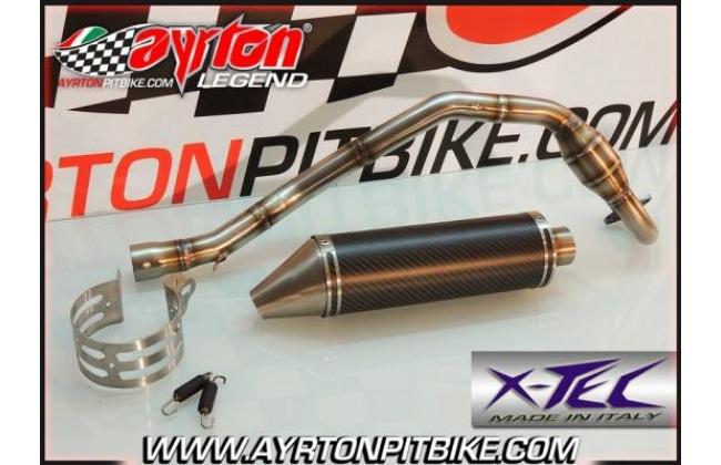 Full Exhaust Xtec Gp Carbon High Passage Pit Bike