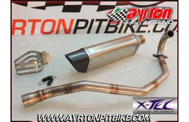 Full Exhaust Xtec Penta Carbon High Passage Pit Bike