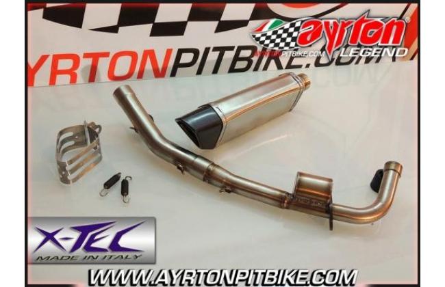 Full Exhaust Xtec Penta Carbon Low Passage Pit Bike