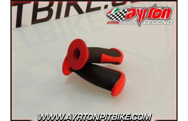Bicolor Pit Bike Supergrip Grips
