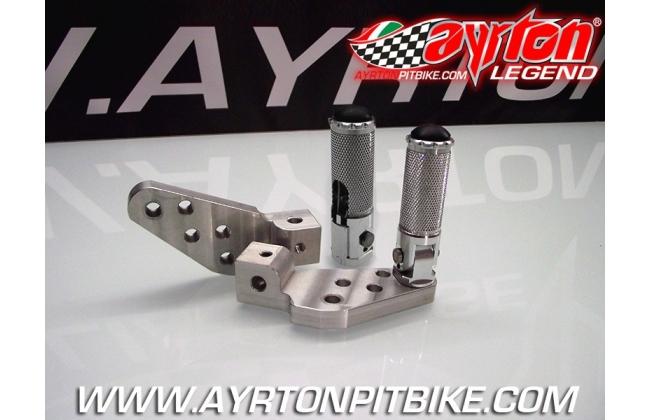 Backward Adjustable Footpegs Aluminum Pit Bike