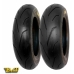 * On Offer With Free Shipping - Train Pmt Black Fire Tires 100/90 12 + 120/80 12 (choose The Compound)