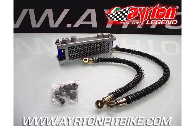 Oil Cooler With Blue Anodized Finish