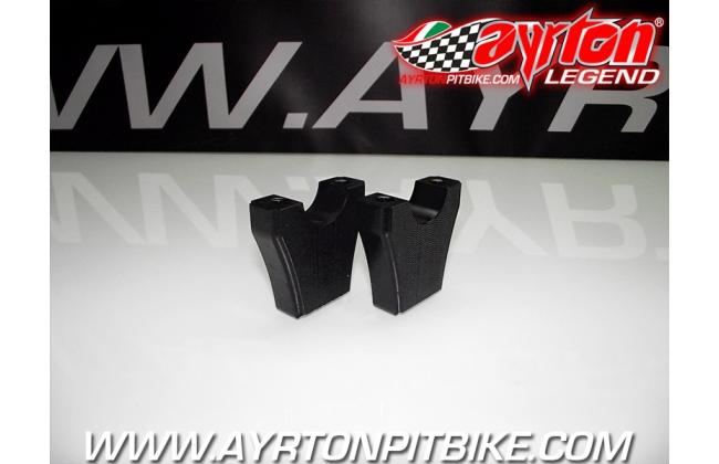 High Quality Cnc Pit Bike Risers Lx9 Type Black