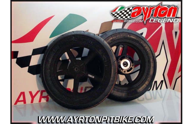 Combo Alloy Wheels Dhz + Train Of Tires Sava Mc31