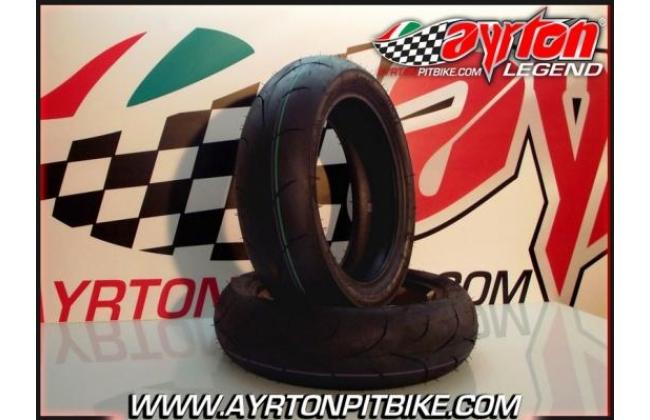 Pair Of Sava Mc34 Pit Bike Tires