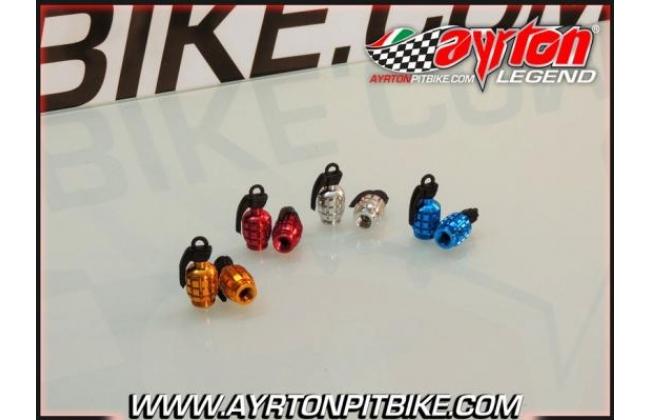 Pit Bike Grenade Valve Caps