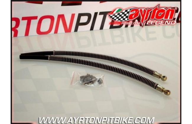 Pit Bike Radiator Tubes Banjo Single 8 With Heat Shield