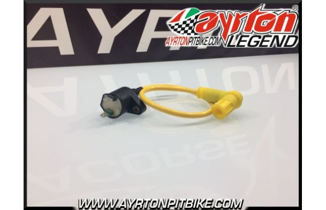 Coil With Cable And Pipette In Yellow High Performance Pit Bike Shielded Silicone